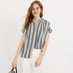 NWT Madewell Central Drapey Shirt Fairborn Stripe